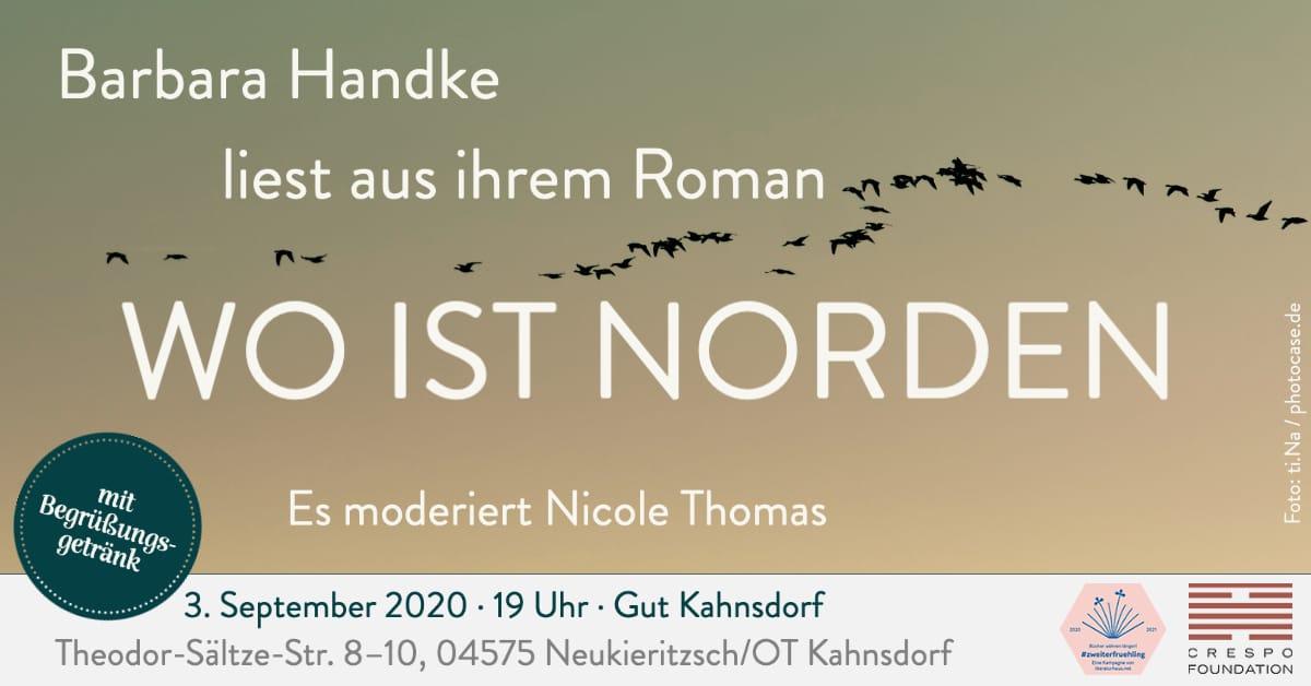 Barbara Handke liest »Wo ist Norden« auf Gut Kahnsdorf
