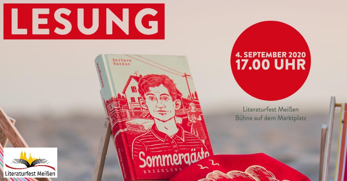 Barbara Handke liest beim Literaturfest Meißen