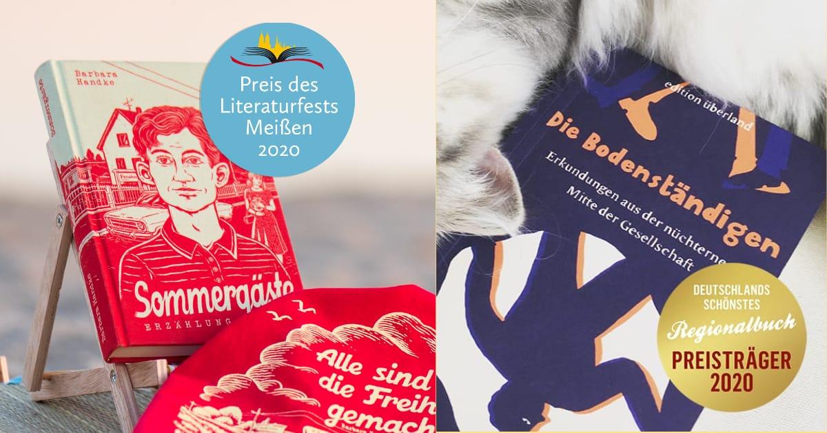 »Sommergäste« erhält den Preis des Literaturfests Meißen 2020, »Die Bodenständigen« ist Deutschlands schönstes Regionalbuch